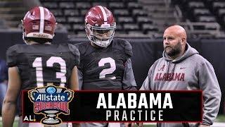 Watch Jalen Hurts, Tua Tagovailoa & Alabama offensive standouts practice at Mercedes-Benz Superdome