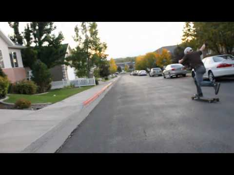 The fall Skate- Longboarding