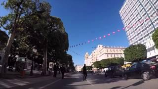 Tunisie Centre ville de Tunis, Gopro / Tunisia Tunis City center filmed by Gopro