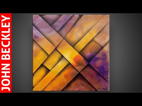 Colorful Abstract Painting Demonstration for Beginners   Relaxing   Operio