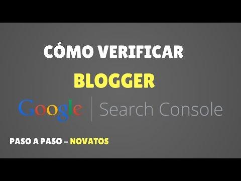 Cómo Verificar y Añadir BLOGGER a Search Console PASO A PASO