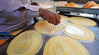 Cambodian Street Food - GIANT COCONUT PANCAKES Phnom Penh Cambodia