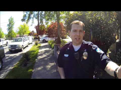 Grants Pass Police, meet and greet. Open Carry AR-15