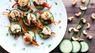Asian Shrimp and Cucumber Appetizer