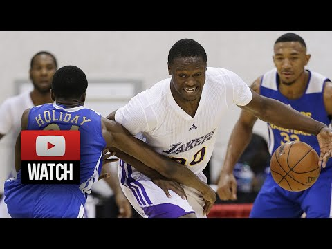 Julius Randle Full SL Highlights 2014.07.14 vs Warriors - 14 Pts