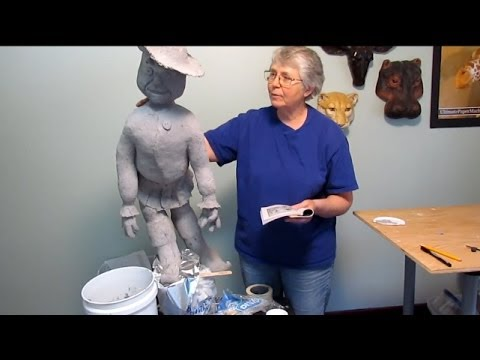 Paper Clay Mask With Paper Mache Clay