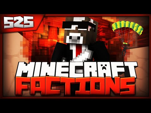 Minecraft FACTIONS Server Lets Play - 50 PLAYER SKYDIVE RAID - Ep. 525 ( Minecraft Faction )