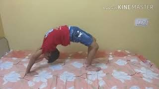 Yoga classes with cute sensation Shivanshu - Chakrasana
