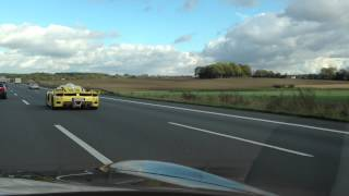 Edo Competition Enzo ZXX (ZR Exotics) on German Autobahn - extreme LOUD sound! - 1080p HD