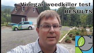 Horticultural vinegar weedkiller test results