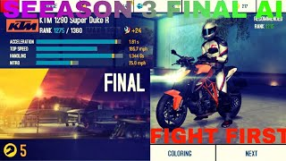 MOTO BLITZ Season 3  FIGHT FIRST Final AI in 01:39:165 in Asphalt 8
