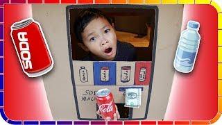 Coca Cola from SODA Vending Machine!!! Kids Pretend Play