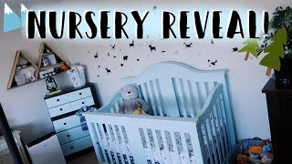 Baby Boy Nursery Tour 2018 | DIY Baby Room On a Budget! (Woodland Theme Nursery Decor & Furniture)