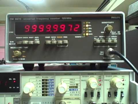 Philips PM6673 120Mhz High Res Universal Frequency Counter Tested on Video
