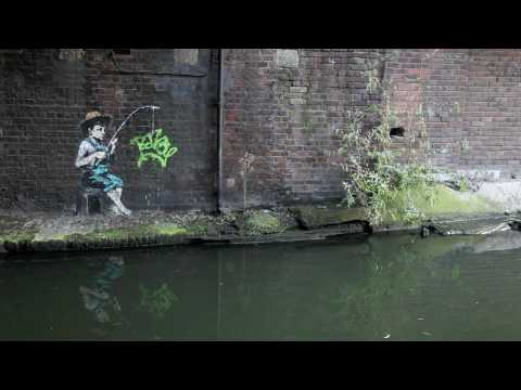 Banksy pieces December 2009 - a walk along Regents Canal