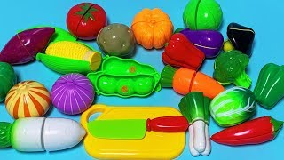 Learn Names of Fruits and Vegetables With Toy   Kids learning fruits vegetables   Happy Toys 2