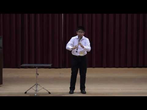 永隆國小直笛團六年七班俞竣元,榮獲105學年度全國學生音樂比賽國小B組直笛獨奏全國決賽優等