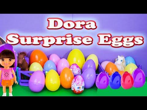 Dora The Explorer Nickelodeon Dora Surprise Egg A Dora Kinder Surprise Egg Video video