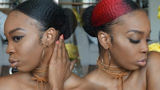 Sleek Low Bun on 4C Natural Hair | Dirty Hair Diaries