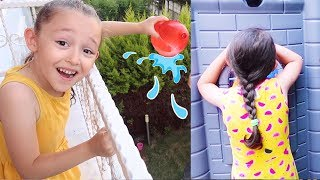 Babamla Çok Komik Saklambaç Oynadık Öykü and Dad Hide and Seek pretend play, Funny video Kompilasyon