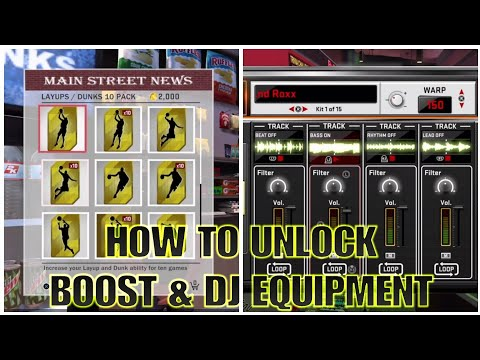 NBA 2K18 - HOW TO UNLOCK BOOST & DJ EQUIPMENT ( MUST SEE ) !!!!!