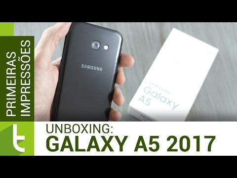 Unboxing E Primeiras Impressões Samsung Galaxy A5 2017   Vídeo Do TudoCelular