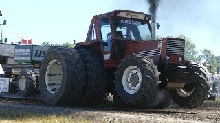 Fiat 1580 Turbo DT Pulling The Big Sledge at Jerslev Power Pull Arena 2018 | Tractor Pulling Denmark