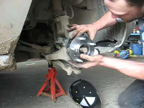 Replacing a wheel bearing