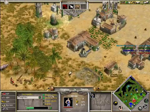 Age of Mythology The Titans x Hamachi: Hades, Poseidon & Isis VS Ra (CPU TITAN) - Parte 1/3