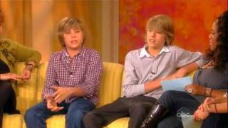 Dylan & Cole Sprouse at The View