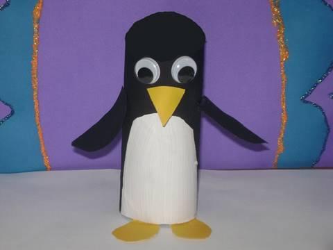יצירת פינגווין מנייר טואלט