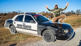 I Bought a STOLEN POLICE CAR for My FARM!!! (Bad Idea)