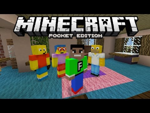 The Simpsons in MCPE!!! - Derpy Simpsons Mod in 0.12.1 - Minecraft PE (Pocket Edition)