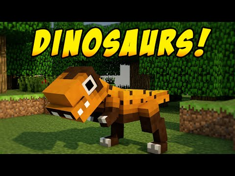 Minecraft Mods - DINOSAUR DIMENSION MOD! (Dinosaurs In Minecraft) - Minecraft Mod Showcase
