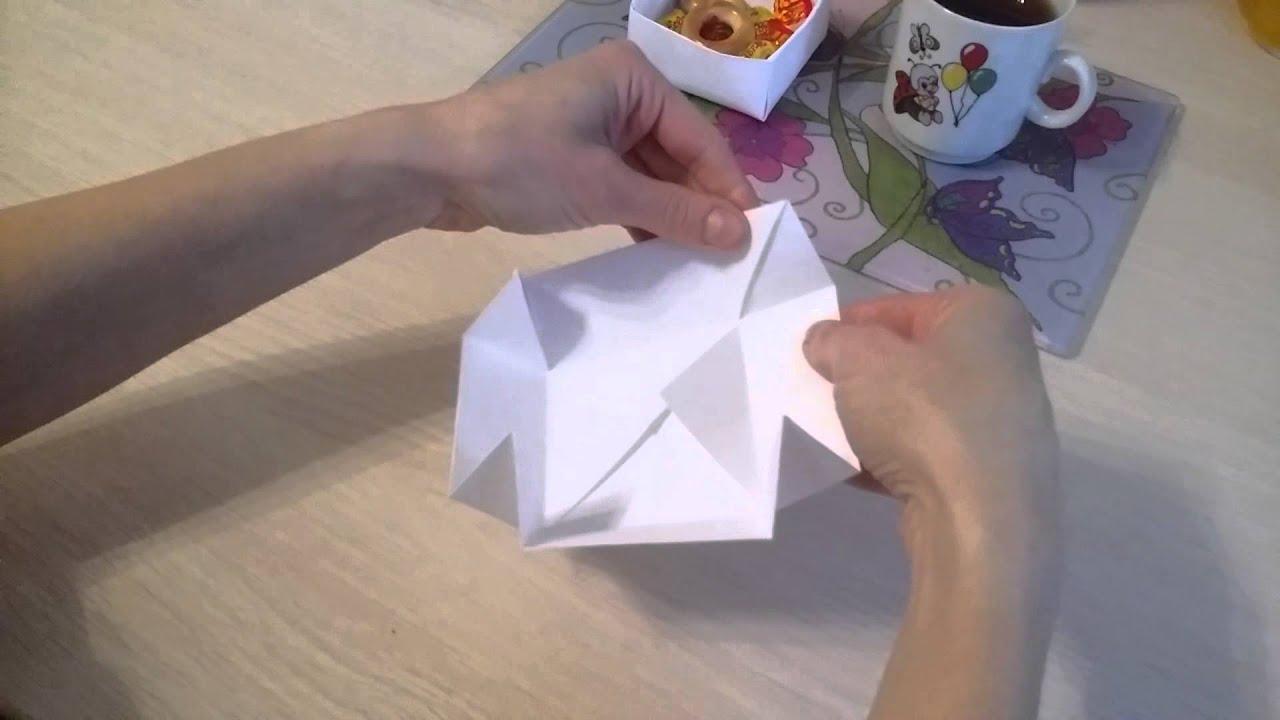 Как с бумаги сделать коробку для конфет