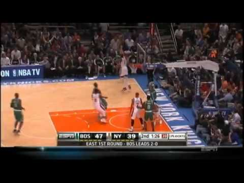 4/22/11 Ray Allen Scores 32 Points Celtics vs Knicks (8 Three Pointers) Game 3 2011 First Round