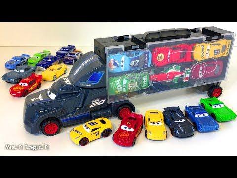 Тачки 3 Новые Игрушки Распаковка Большой Трейлер Много Машинок Видео для Детей