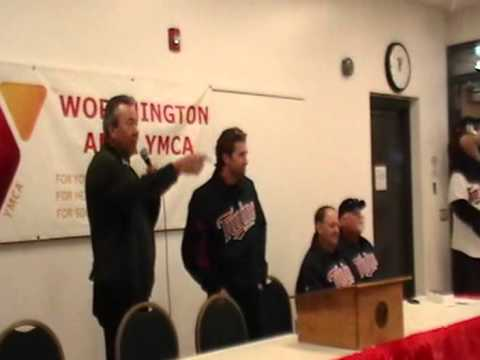 Twins Winter Caravan 2013 made a stop at Worthington, Minn to the YMCA, brought to you by KWOA - your home for Minnesota Twins Baseball! TC, Terry Steinbach, Brian Dozier and Dick Bremer as...