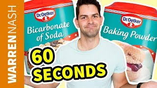 Difference between Baking Soda and Baking Powder in 60 seconds - Warren Nash