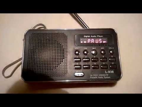 L - 938 FM Radio MP3 Audio Player