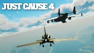 JUST CAUSE 4 - I Put A Micro Jet In The BIGGEST Plane & Flew Out STEALTH STYLE....