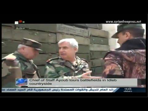 Syria News 13/4/2015, Chief of General Staff inspects army units in al-Mastouma, Idleb CS