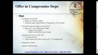 Offer in Compromise | IRS Tax Debt Relief