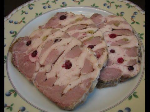Свиная шейка, запеченная с куриной грудкой
