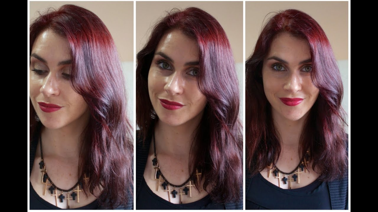 My New Hair Colour Intense Red By Garnier Olia Youtube