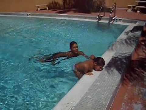 Sabina And Daddy Performing Swimming Pool Dead Jump Youtube