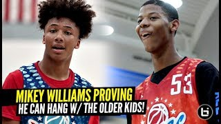 YOUNGEST All American!! Mikey Williams PROVING He Can HANG vs OLDER Players at Pangos AA Camp!!