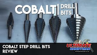 Cobalt step drill bits