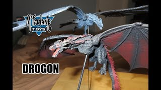 McFarlane Toys DROGON Game of Thrones Dragon FIGURE toy unboxing & review!