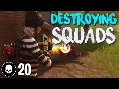 SOLO SQUADS ACTION! 20 Kill Gameplay (Fortnite Battle Royale)